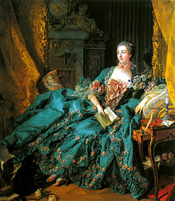 François Boucher, Portrait of Madame de Pompadour (1756). Via Wikimedia Commons