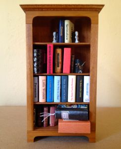 Dollhouse bookshelf.