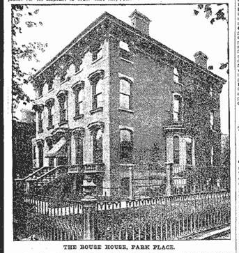 """Two Park Place Mansions."" Brooklyn Eagle, Saturday, October 19, 1901, p. 17."