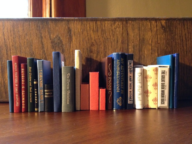 My miniature book collection.